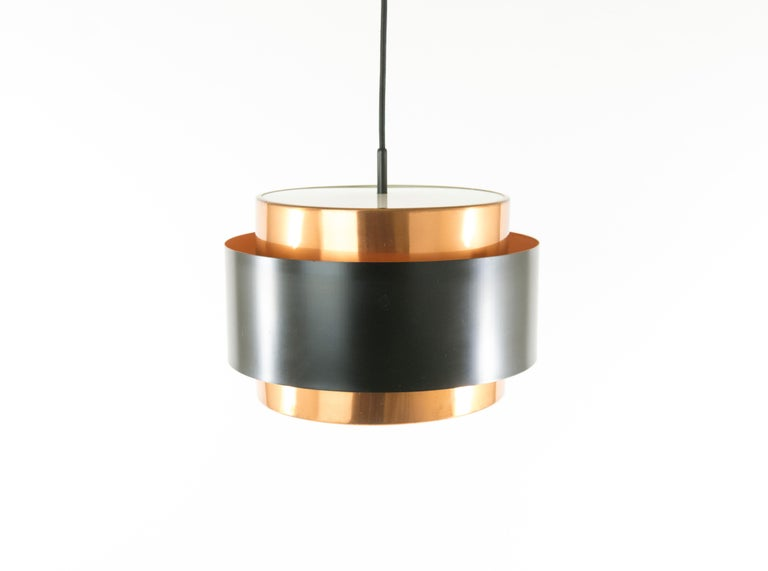 Mid-Century Modern Pair of Copper 'Saturn' Pendants by Jo Hammerborg for Fog & Mørup, 1960s For Sale