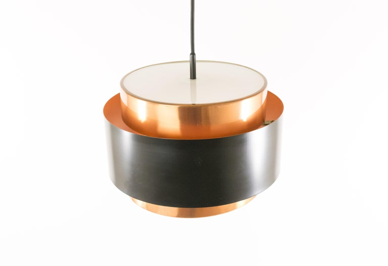 Danish Pair of Copper 'Saturn' Pendants by Jo Hammerborg for Fog & Mørup, 1960s For Sale