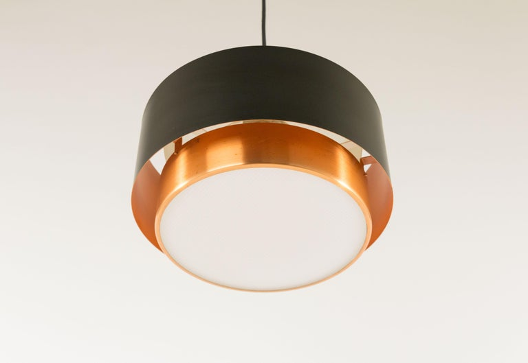 Mid-20th Century Pair of Copper 'Saturn' Pendants by Jo Hammerborg for Fog & Mørup, 1960s For Sale