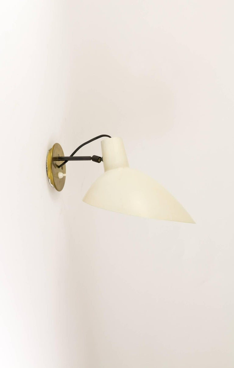 Mid-Century Modern Adjustable Wall Lamp by Vittoriano Viganò for Arteluce, 1950s For Sale