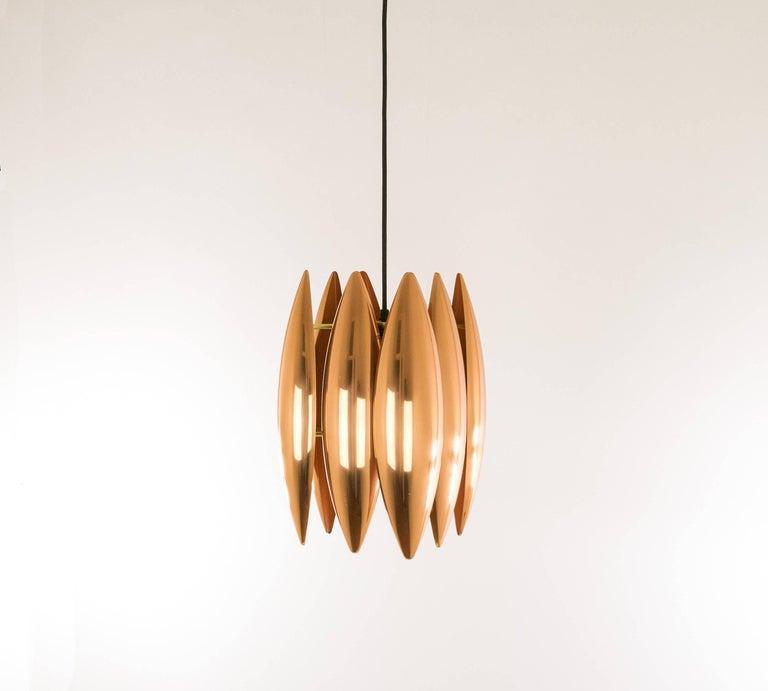 Mid-Century Modern Copper Kastor Pendant by Jo Hammerborg for Fog & Mørup, 1960s For Sale