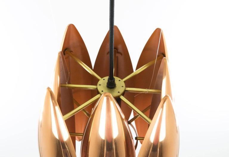 Copper Kastor Pendant by Jo Hammerborg for Fog & Mørup, 1960s In Good Condition For Sale In Rotterdam, NL