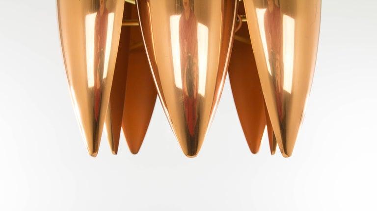Mid-20th Century Copper Kastor Pendant by Jo Hammerborg for Fog & Mørup, 1960s For Sale
