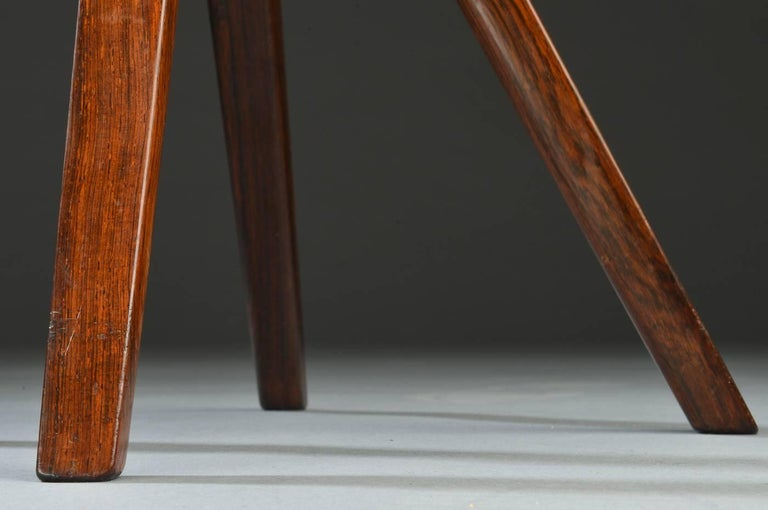 Swivel Stool with Backrest In Rosewood by Tove & Edvard Kindt-Larsen 9