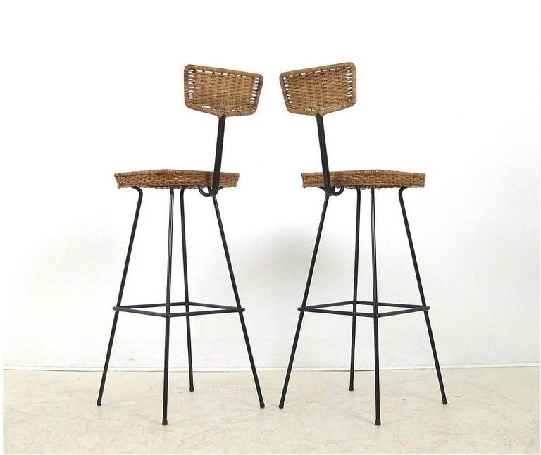 set of bar stools by m ller boulevard m bel at 1stdibs. Black Bedroom Furniture Sets. Home Design Ideas