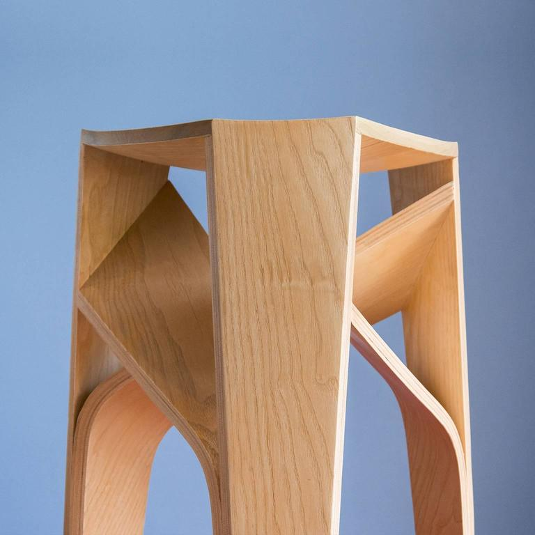 Molded Bentwood Stool For Sale