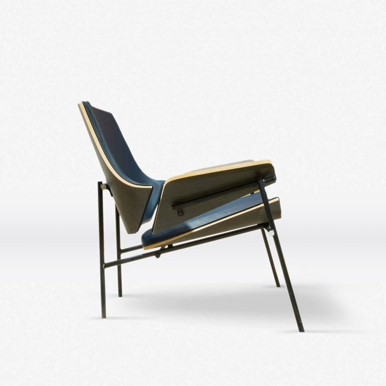 Mexican Lounge Chair in Bentwood and Leather or Fabric For Sale
