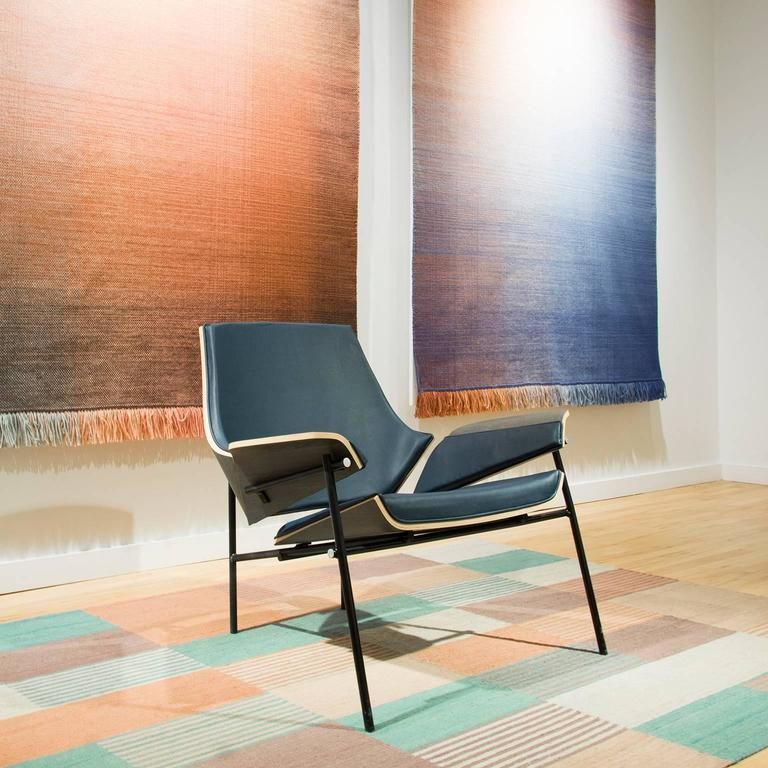 Molded Lounge Chair in Bentwood and Leather or Fabric For Sale