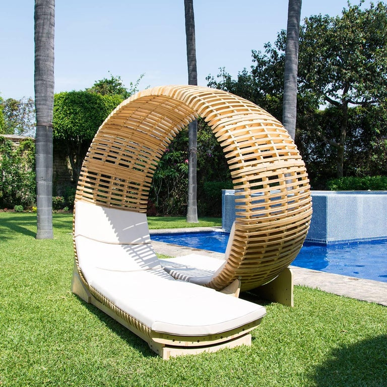 Mexican Contemporary Outdoor Chaise Lounge For Sale