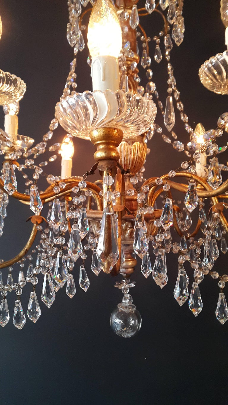 Antique crystal chandelier lustre 19th century wood at 1stdibs antique crystal chandelier lustre 19th century wood in good condition for sale in berlin aloadofball Images