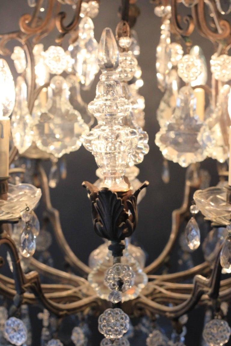 Kristallkronleuchter Lüster Antik Messing Deckenlampe, Rarität 3
