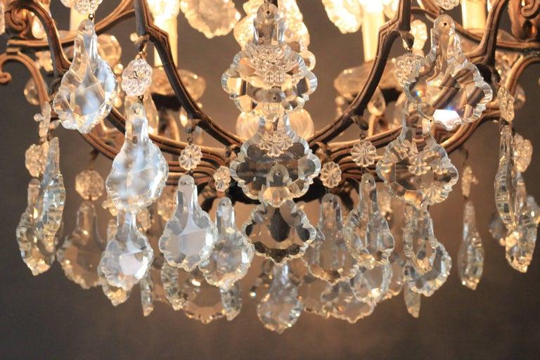Kristallkronleuchter Lüster Antik Messing Deckenlampe, Rarität 4