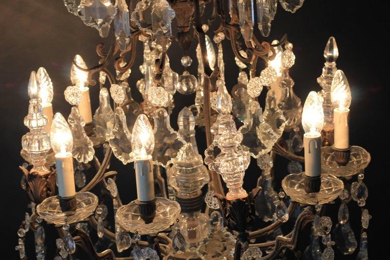 Kristallkronleuchter Lüster Antik Messing Deckenlampe, Rarität 6
