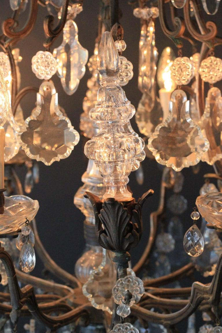 Kristallkronleuchter Lüster Antik Messing Deckenlampe, Rarität 8