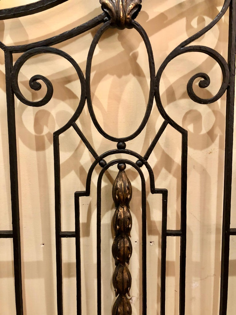 Pair of Antique French Wrought Iron Gates, circa 1880 For Sale at ...
