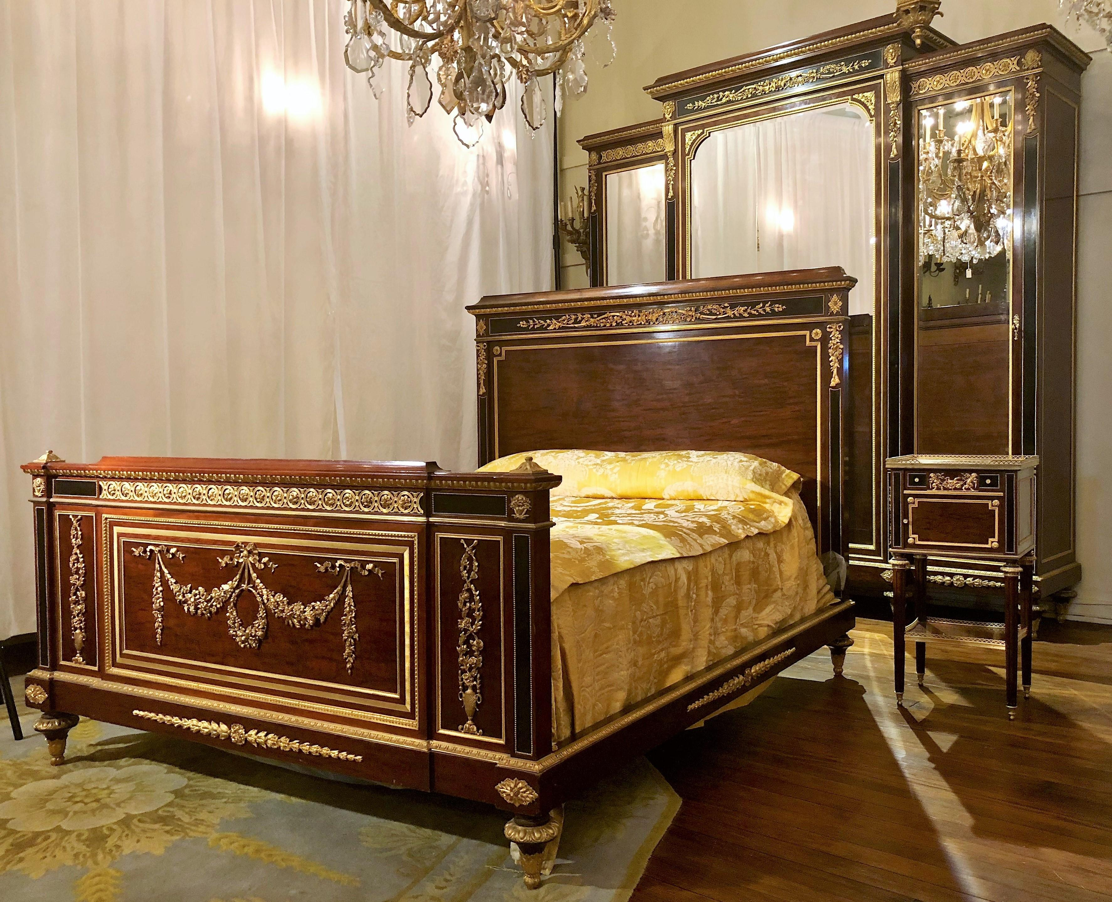 BRST012: Magnificent Antique French Late 19th Or Early 20th Century Louis  XVI Style Three