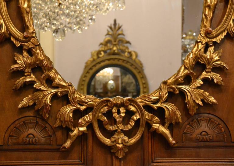 Paar antike spiegel aus vergoldetem geschnitztem holz im angebot bei 1stdibs - Spiegel aus holz ...