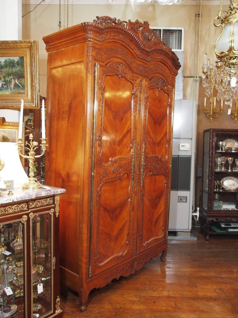 Antique french cherry wood armoire for sale at stdibs