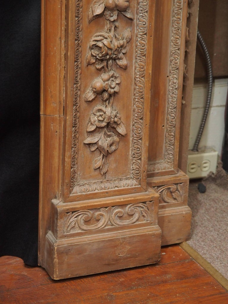 Antique 19th Century Carved Wood Mantel For Sale At 1stdibs