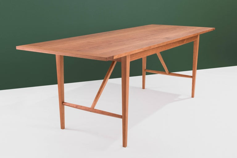 American Hill Dining Table by Tretiak Works, Handcrafted Solid Cherry Shaker For Sale