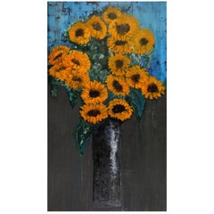 """Giant """"Sunflower"""" Resin and Acetate Painting"""