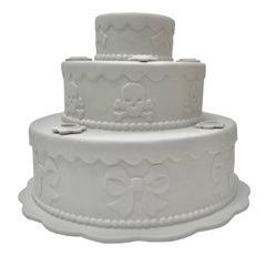 Biscuit Porcelain Tiered Cake Candleholder, 2006
