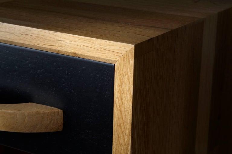 beautiful nightstand solid oak french designed by julien ebeniste bordeaux for sale at 1stdibs. Black Bedroom Furniture Sets. Home Design Ideas