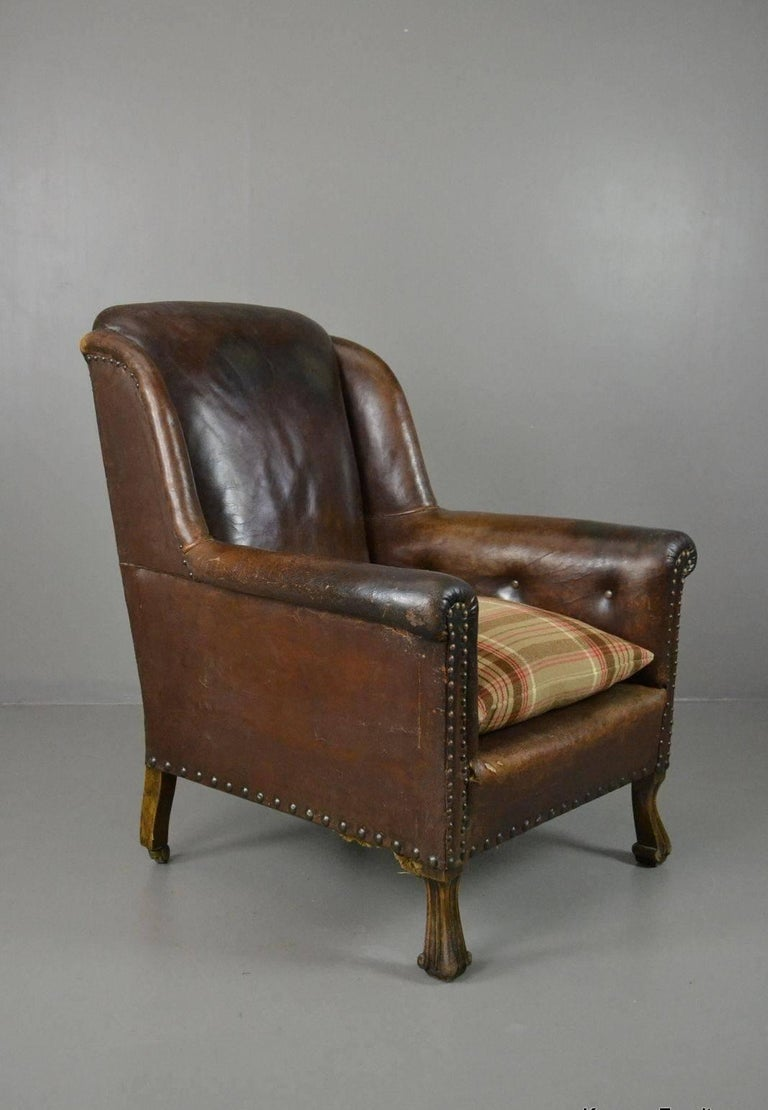 vintage leather armchairs for sale antique brown leather armchair for at 1stdibs 8837