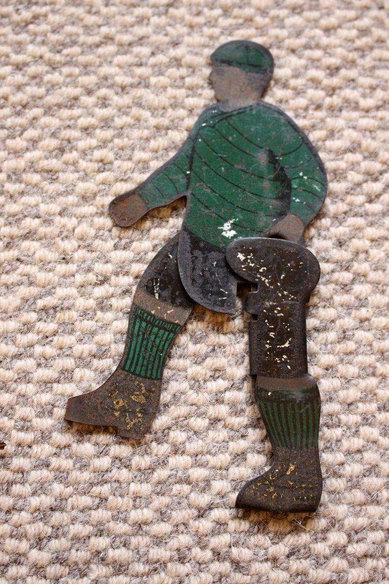 Six Tinplate Football or Ice Hockey Figures Circa 1910 For Sale 1