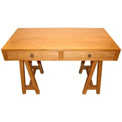 Handmade Oak Desk, Customizable Wood and Size, Made in England