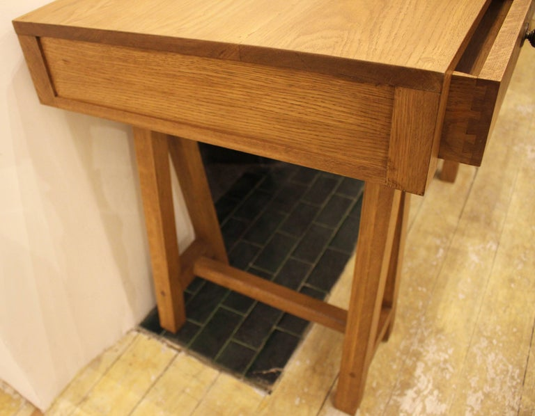 English Handmade Oak Desk, Customizable Wood and Size, Made in England For Sale