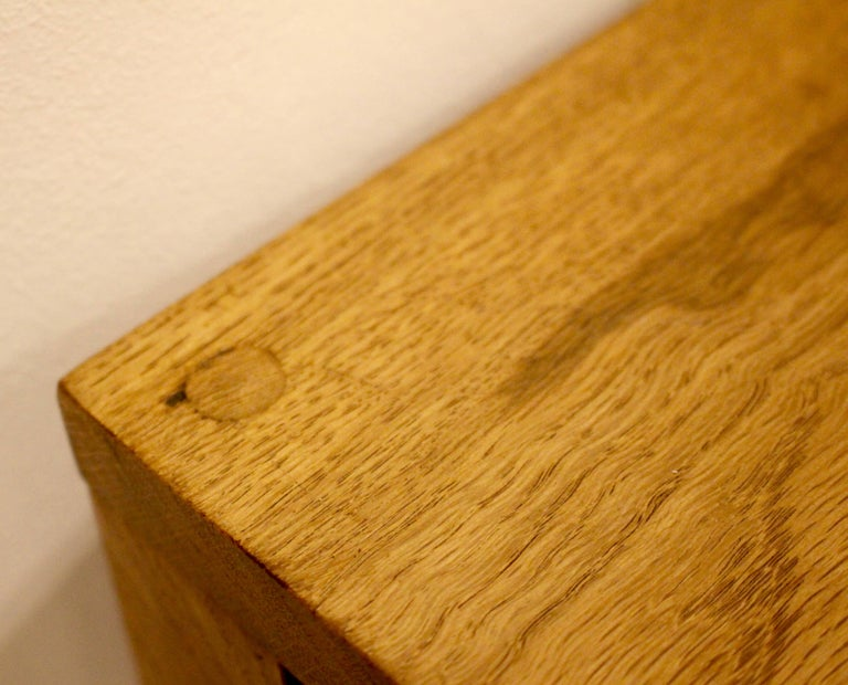 Handmade Oak Desk, Customizable Wood and Size, Made in England In Excellent Condition For Sale In Heathfield, East Sussex