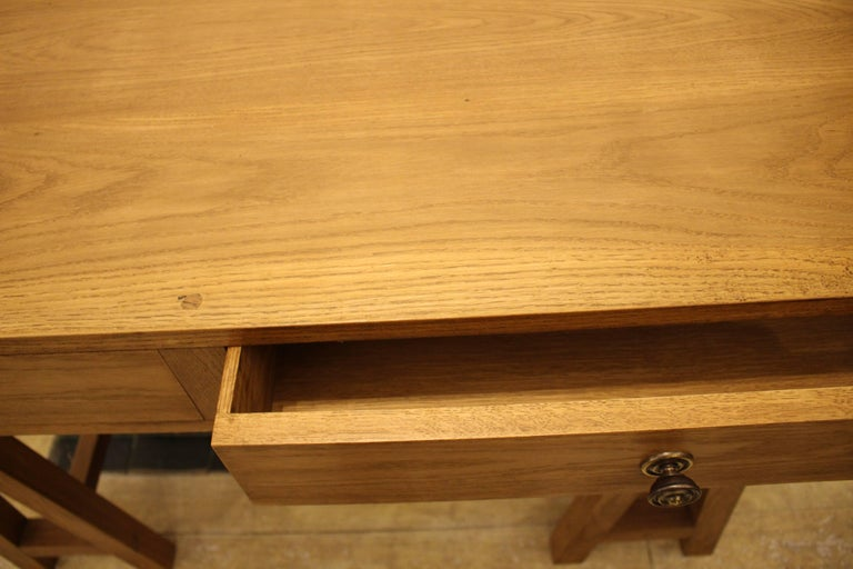 Handmade Oak Desk, Customizable Wood and Size, Made in England For Sale 1