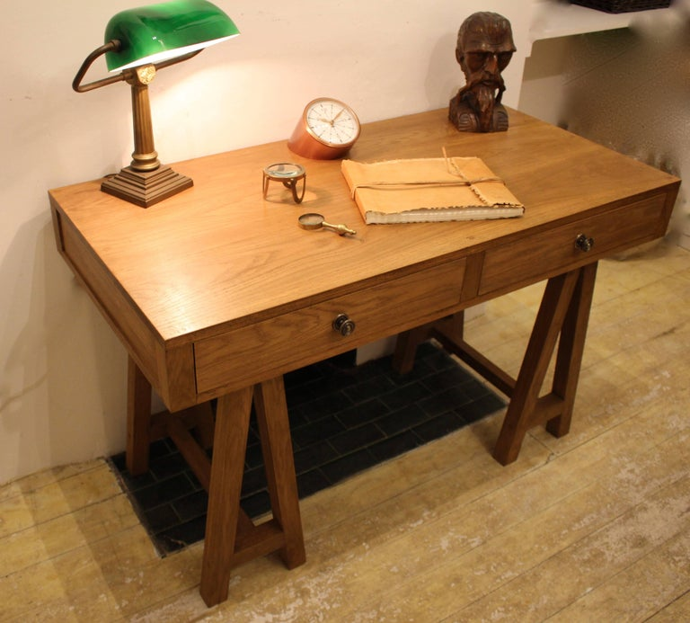 Handmade Oak Desk, Customizable Wood and Size, Made in England For Sale 3