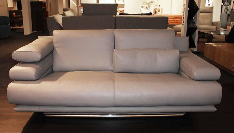 rolf benz set of two sofas 6500 leather made in germany for sale at 1stdibs. Black Bedroom Furniture Sets. Home Design Ideas
