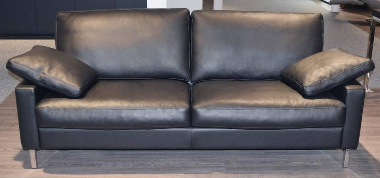 set of two leather sofas by famous german manufacture wk. Black Bedroom Furniture Sets. Home Design Ideas