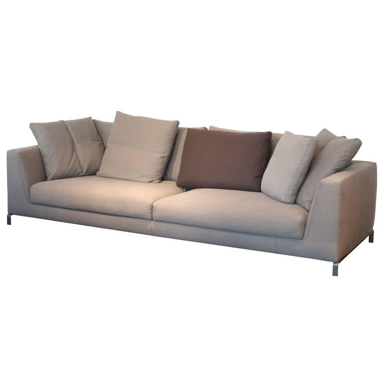 B B Italia Sofa Ray With Brown Fabric On Aluminium Base For Sale At 1stdibs