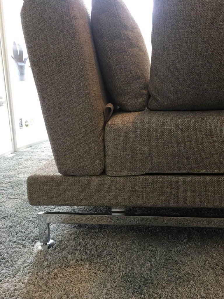 l sofa moule by manufacturer br hl in chromed metal. Black Bedroom Furniture Sets. Home Design Ideas