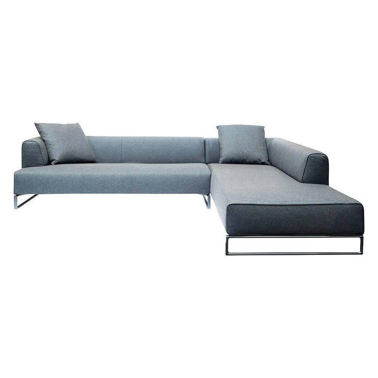 l sofa solo 14 by manufacturer b and b italia made of steel finished in fabric for sale at. Black Bedroom Furniture Sets. Home Design Ideas