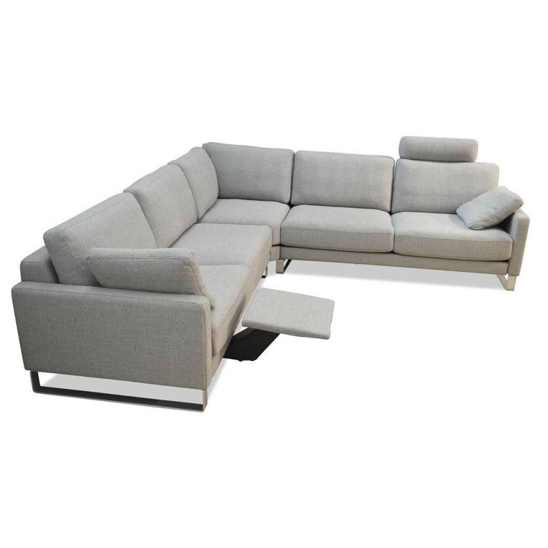 L Sofa Ego By Manufacturer Rolf Benz In Massive Wood Metal And Fabric For Sale At 1stdibs