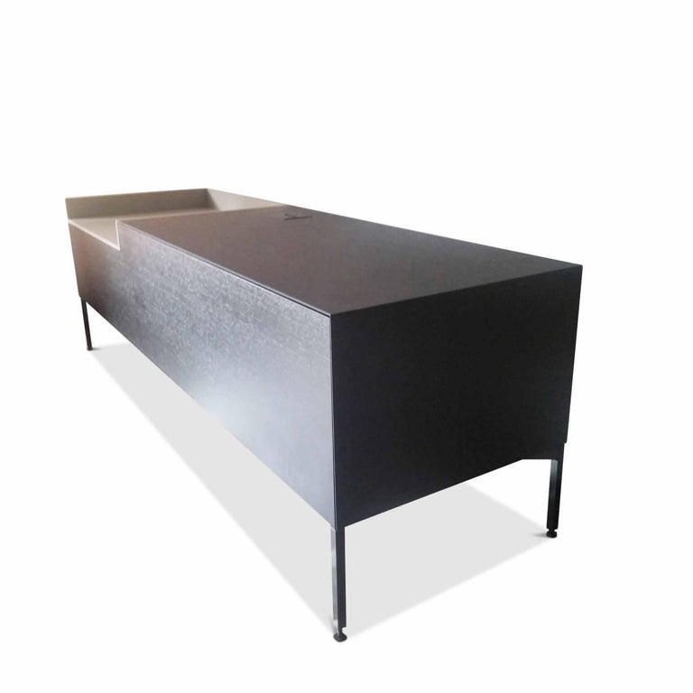 sideboard inmotion by manufacturer mdf italia in wood and steel for sale at 1stdibs. Black Bedroom Furniture Sets. Home Design Ideas