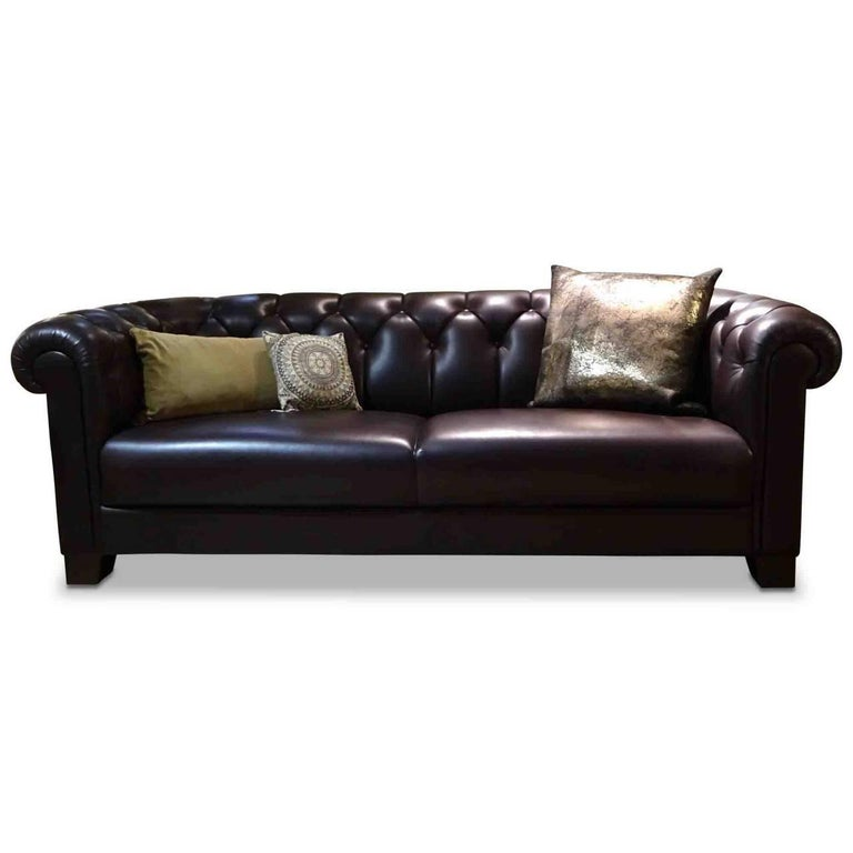 """Percival Lafer Sofa Sofa """"Cambridge"""" by Manufacturer Sinn in Leather Wood and ..."""
