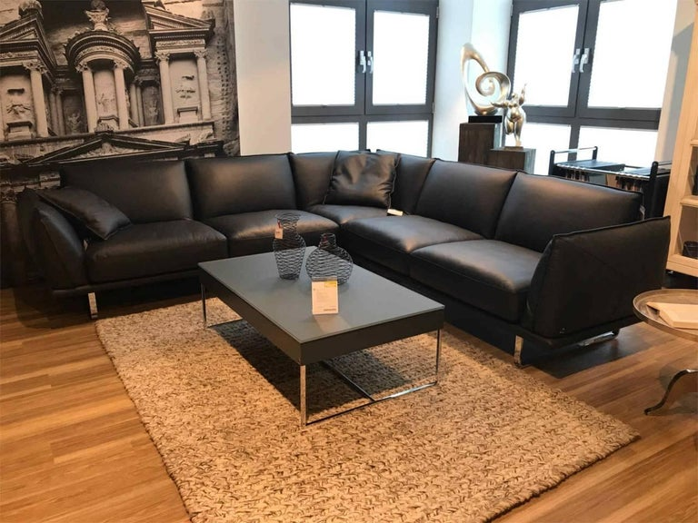 sofa wk 667 sienna by manufacturer wk wohnen in metal and 100 genuine leather for sale at 1stdibs. Black Bedroom Furniture Sets. Home Design Ideas