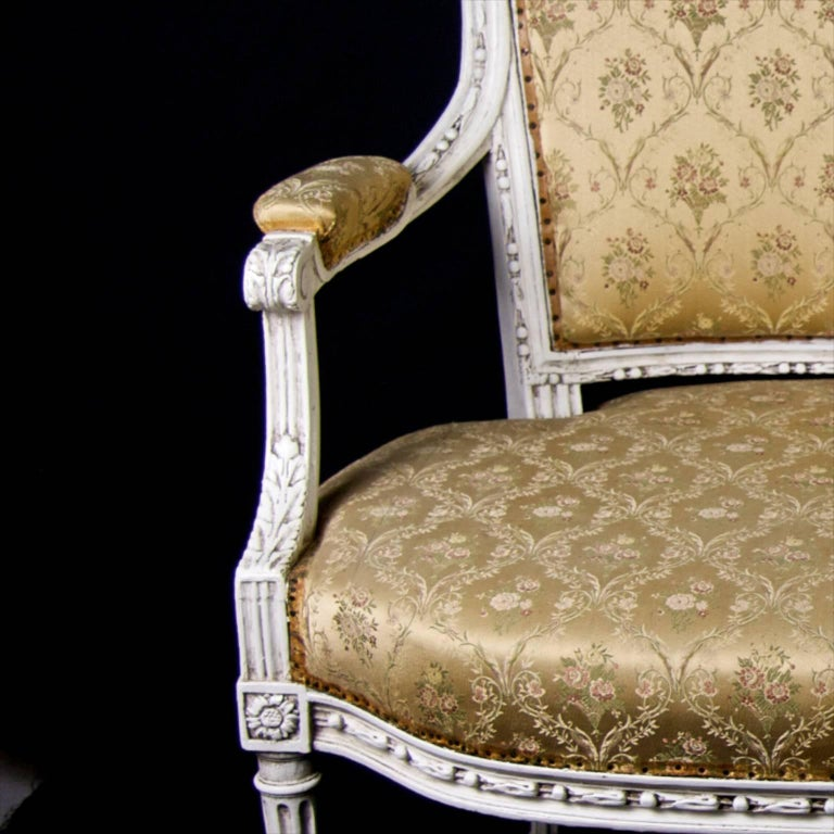 Late 19th Century Antique Swedish Gustavian Sofa, Three-Seat For Sale 1