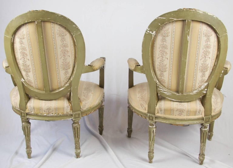 Late 19th Century Antique Swedish Gustavian Carved Gilt Carver Chairs In Good Condition For Sale In LONDON, GB