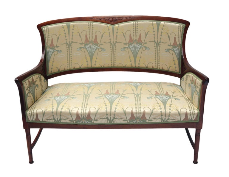 Art Nouveau Mahogany Seating Group Set Of Five For Sale At 1stdibs