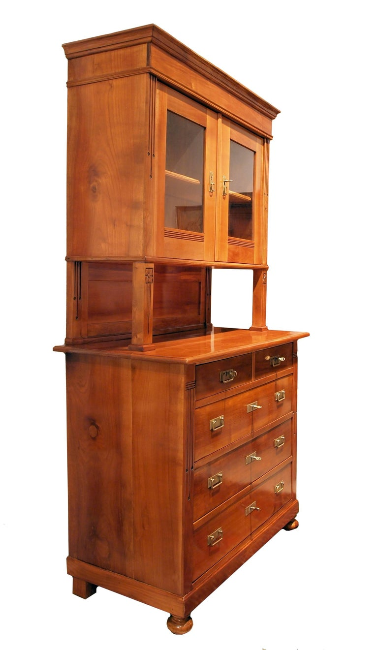art nouveau cherrywood buffet from germany for sale at 1stdibs. Black Bedroom Furniture Sets. Home Design Ideas