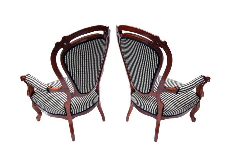 19. Jahrhundert Louis Philippe Armchair, Set aus zwei, Mahagoni 2