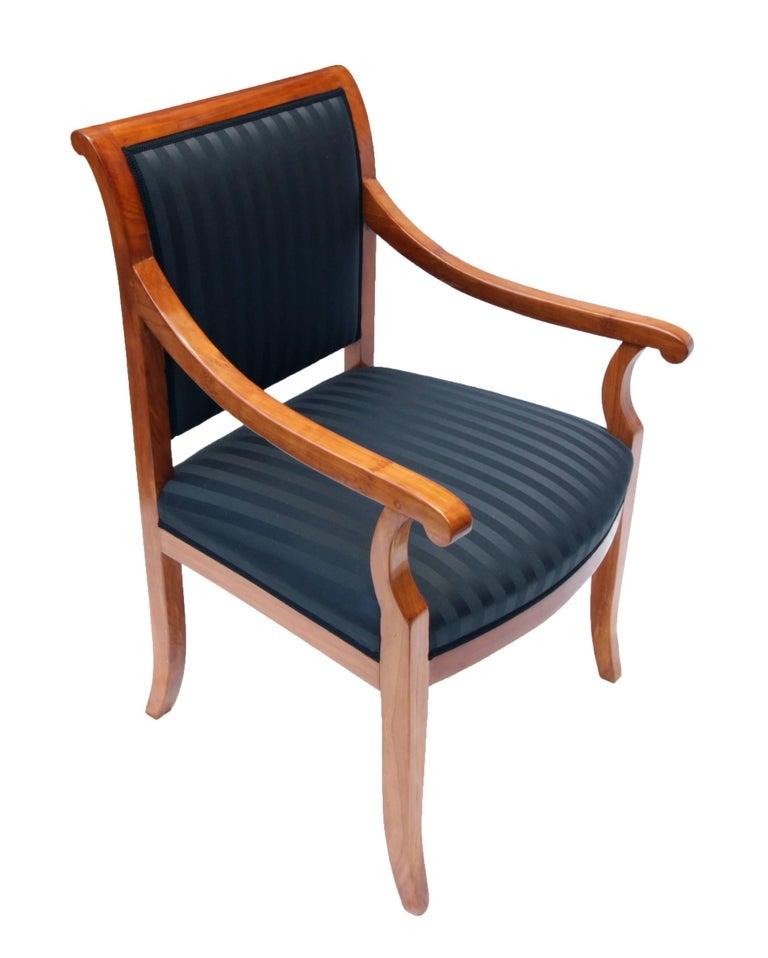 19 Jahrhundert Biedermeier Sessel Massivem Kirschholz Neu