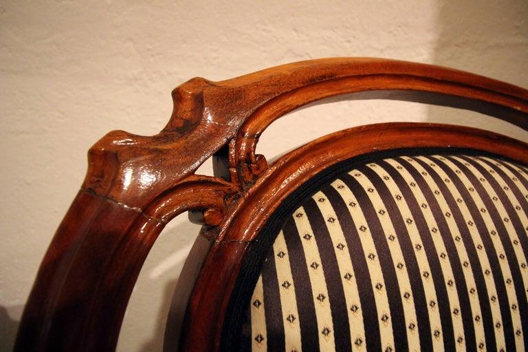 19. Jahrhundert Louis Philippe Armchair, Set aus zwei, Mahagoni 3
